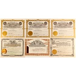 Six Oregon Gold Mining Stock  Certificates