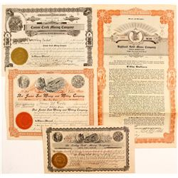Three Baker Stock Certificates/ Baker Bond
