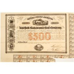 New York & Lackawanna Coal Company Bond