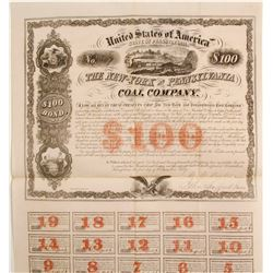 New-York and Pennsylvania Coal Company Bond