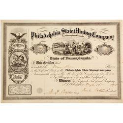 Philadelphia Slate Mining Company Stock - Rare