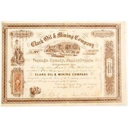 Clark Oil & Mining Company Stock
