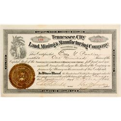 Tennessee City Land, Mining & Manufacturing Company Stock