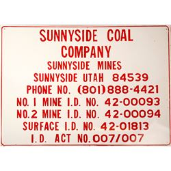 Sunnyside Coal Tin Sign