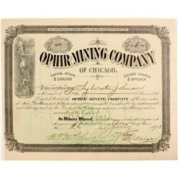 Ophir Mining Company of Chicago