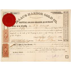 Isaac's Harbor Gold Co. of Nova Scotia Stock Certificate, 1864
