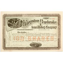 Kingston and Pembroke Iron Mining Company Stock