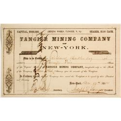 Tangier Mining Company Stock