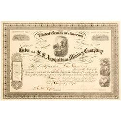Cuba and U. S. Asphaltum Mining Company Stock