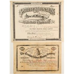Priest Mountain Mining Company: Certificate NUMBER 1
