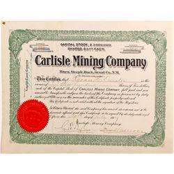 Carlisle Mining Company stock certificate