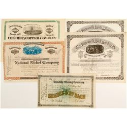 Five Eastern Mining Certificates