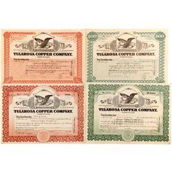 Four Tularosa Copper Company stock certificate