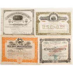 Four Various Mining Stock