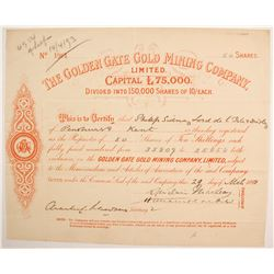 Golden Gate Gold Mining Company stock