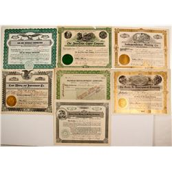 Seven Mineral capital stock certificates