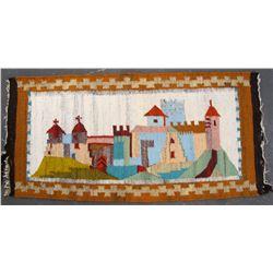 Rug, Decorative of European Village
