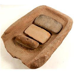 Large Flat Indian Grinding Stone