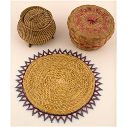 Vintage Pine Needle Baskets