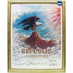 Hollywood Stars- Major Autograph Piece Signed by Stars of Republic