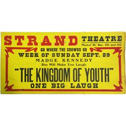 Madge Kennedy, Strand Theatre Broadside