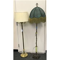 Two Standing Brass Lamps