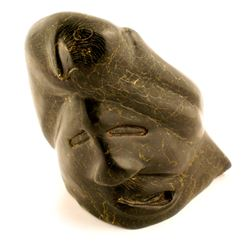 Serpentine Native Alaskan Sculpture