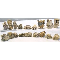 Ornate Signed Oriental Figurines