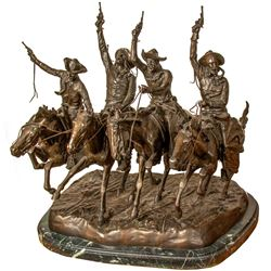 "Remington Bronze, ""Coming Through the Rye"""
