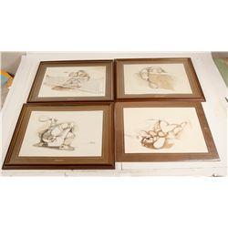 4 Tennis Themed Prints