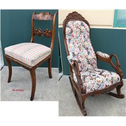 Russian Neoclassical Carved Swan Chairs (7)