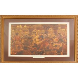 """Winners and Losers"" Signed, numbered print by Arnold Friberg"