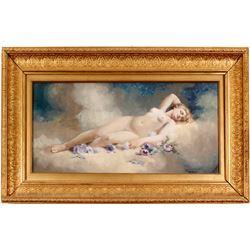 Andrew Putnam Hill Gouache Nude