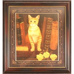 Print of Yellow Tabby Cat