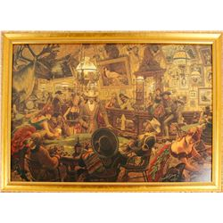 The Poker Table, signed, numbered print by Arnold Friberg