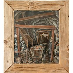 Underground Mining Scene Oil Painting by Gardner