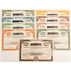 Akron, Canton & Youngstown Railroad Co - 9 certificates