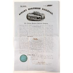 Albany Northern Railroad$1,000 Bond