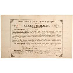 Albany Railroad Mortgage Bond of 1893