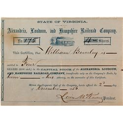Alexandria, Londonn and Hampshire Railroad Co