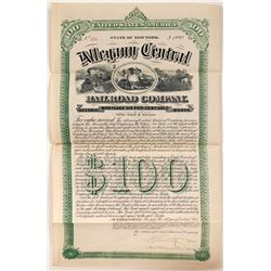 Allegany Central Railroad Co Second Mortgage Gold Bond