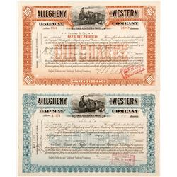 Allegheny and Western Railway Co. Stock