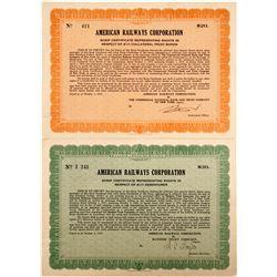 American Railways Corp. Scrip Certificate