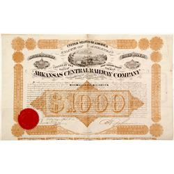 Arkansas Central Railway Company Gold Bond