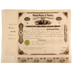 Boston & New York Central Rail Road Company Mortgage Bond