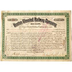 Boston Elevated Railway Company Receipt