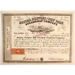 Boston, Newport and New York Steamboat Co Stock