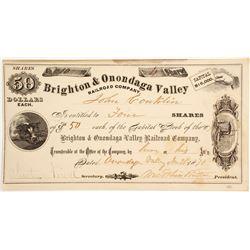 Brighton & Onondaga Valley RR Co.