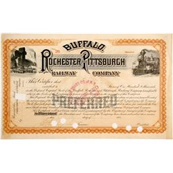 Buffalo, Rochester and Pittsburgh Railway Stock