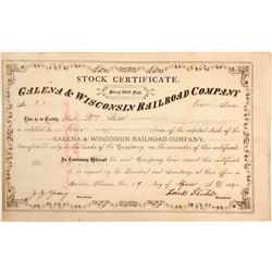 Galena & Wisconsin Railroad Stock
